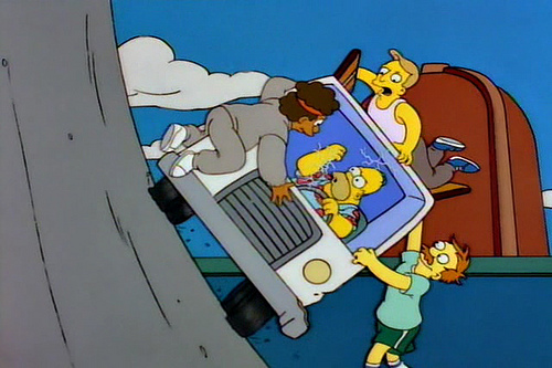 simpsons icecream truck