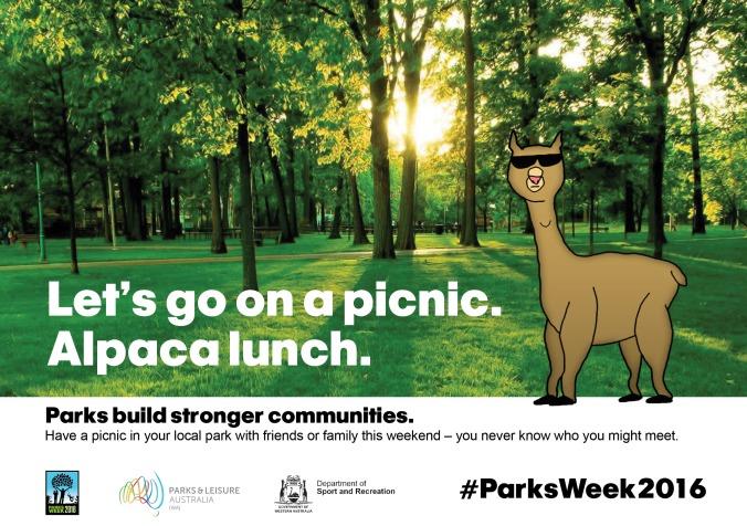 Parks Week 2016 - Alpaca